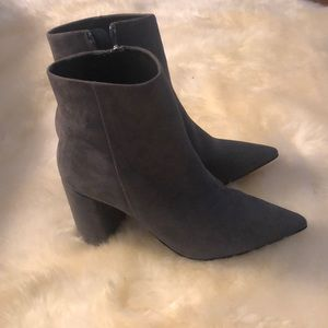 Barney's New York Suede Leather Booties